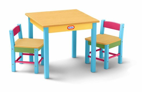 Little Tikes Deluxe Wooden Table u0026 Chairs Set Amazon.co.uk Toys u0026 Games  sc 1 st  Amazon UK & Little Tikes Deluxe Wooden Table u0026 Chairs Set: Amazon.co.uk: Toys ...