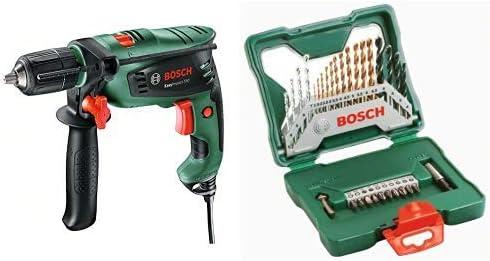 Bosch EasyImpact 550 - Taladro percutor + Bosch X-Line Titanio - Maletín de 30 unidades