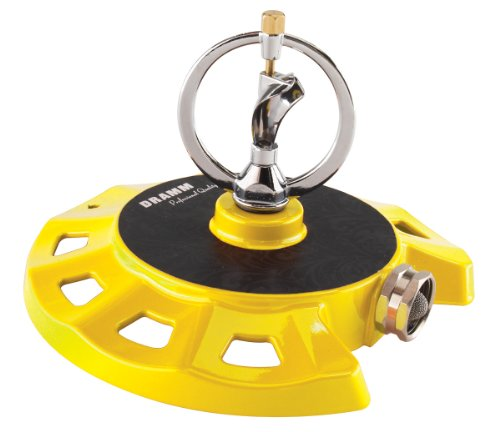 Low Sprinkler Pressure (Dramm 15073 ColorStorm Spinning Sprinkler, Yellow)