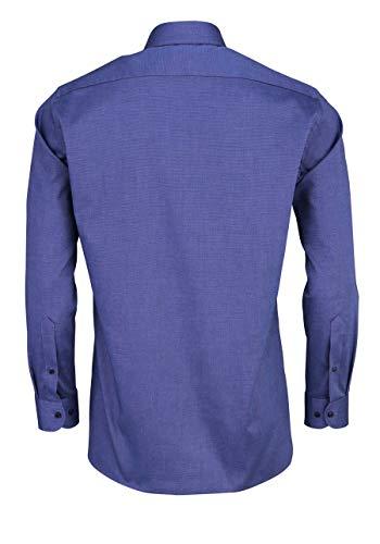 MARVELIS Hemd Modern Fit gr 41 Bügelfrei weiß blau meliert TOP Zu