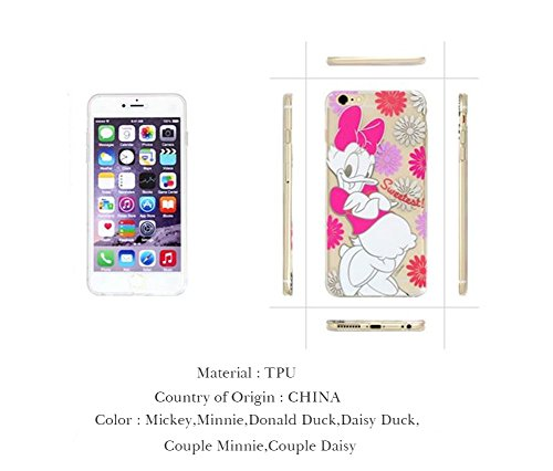 Disney Genuine Jelly Clear Hologram Bumper Case Collection Mickey, Minnie, Glasses Mickey, Glasses Minnie, Cartoon Mickey, Cartoon Minnie, Donald Duck, Daisy Duck, Pink, Mint, Brown, Pooh, Stitch for iPhone 6 (Hologram Daisy Duck)