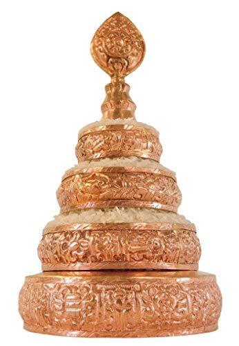 Hands Of Tibet Copper Mandala Offering Set 5 Inch Diameter (5'' Gold) by Hands Of Tibet (Image #1)