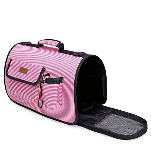 Approx.44.5x40x26cm Jinsun Stripe Pet Shoulder Bag Breathable Travel Portable Pet Satchel