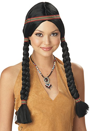 [California Costumes Women's Indian Maiden Wig, Black, One Size] (Indian Costumes For Women)