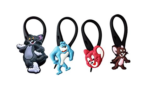 hermes avirgo 4 pcs soft zipper pull charms for backpack