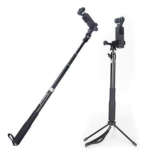 Smatree Telescoping Selfie Stick with OMSO Expansion Bracket Compatible for DJI OSMO Pocket/OSMO Action Camera and Cell Phone