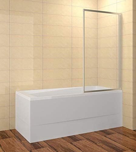 Mampara para bañera 80 x 135 cm (LxAl) 1 pieza ESG 3/4 mm cristal ...