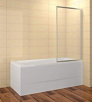 Mampara para bañera 80 x 135 cm (LxAl) 1 pieza ESG 3/4 mm cristal transparente perfiles blanco: Amazon.es: Bricolaje y herramientas