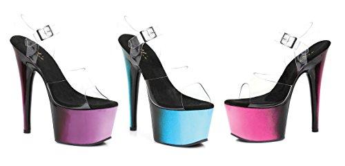 Ellie Schoenen E-709-ombre 7 Inch Mule Met Ombre Design Roze