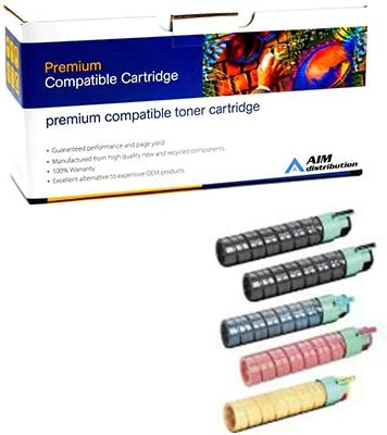 AIM Compatible Replacement for Savin C9020//9025 Toner Cartridge Combo Pack 2-BK//1-C//M//Y 84112MP - Generic