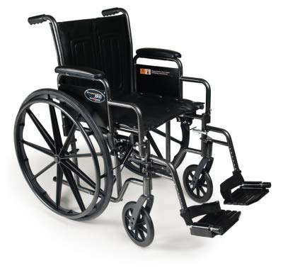 Everest & Jennings Traveler SE Wheelchair 20 x 16 Detachable Desk Arm, Swing Away - Arms Swing Footrests Detachable Away