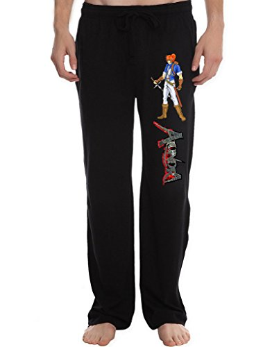 XJX Men's alundra the dreamwalker Lounge Pajama Pants XXL Black