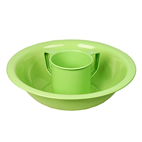 Mini Kids' Stainless Negel Vasser Wash cup and Bowl Set in Green