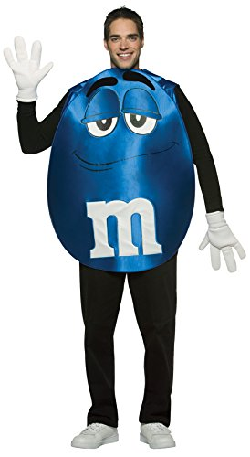 [UHC Unisex M&M's Blue Poncho Funny Comical Theme Party Adult Halloween Costume, OS] (Comical Halloween Costumes)