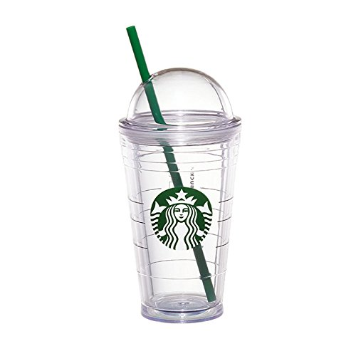 Cup Logo (Starbucks Logo Cold Cup Dome Lid Tumbler, Tall 12 Fl Oz)