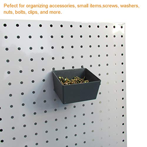 Pegboard Hooks Assortment with Pegboard Bins, Peg Locks, for Organizing Tools, 80 Piece by FRIMOONY (Image #4)