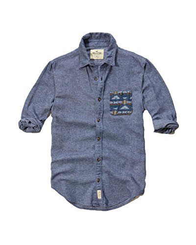 hollister-mens-front-button-down-shirt-s-blue-patterned
