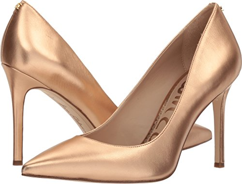 (Sam Edelman Women's Hazel Pump Golden Copper Metallic Leather 5.5 M US)