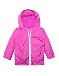 Dickin Girl/Kid Waterproof Hood Collar Switchback Pockets Rain Jacket