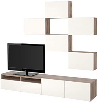 Ikea 14202.23118.226 - Mueble de TV con puertas y cajones (efecto nogal), color gris: Amazon.es: Juguetes y juegos
