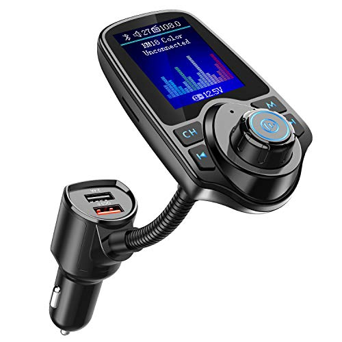 Nulaxy Bluetooth FM Transmitter for Car, 1.8