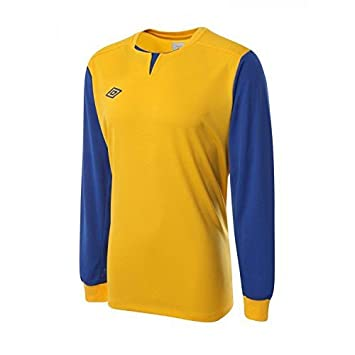 Umbro hombres Aston LS camiseta de fútbol, color - Amarillo/azul, tamaño XXL