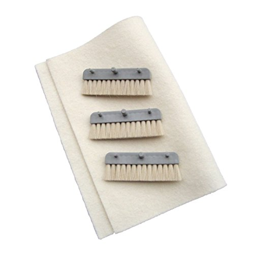 Neopost Inserter Moistening Brush Set with 3 Brushes and Cloth 72.00.05 by Neopost