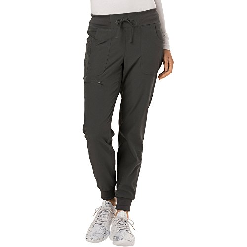 (HeartSoul Break On Through Women's The Jogger Low Rise Tapered Leg Scrub Pant X-Small Pewter)