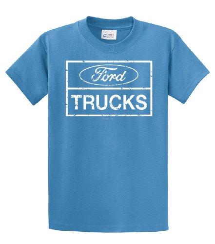 Ford Trucks Classic Square Logo Adlt T-Shirt-Carolina-Medium