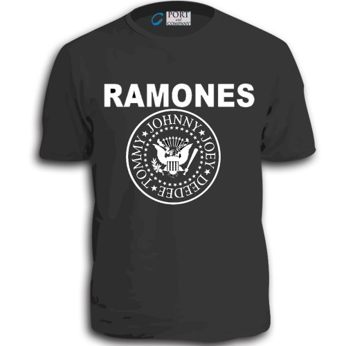 (The Ramones Punk Rock Band Classic Vintage 70's T-shirt Johnny Joey Deedee Tom (Large, Gray))