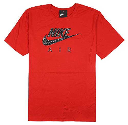 Nike Men's Air Max Splatter Logo T-Shirt XXX-Large Sport Red Reflective Black ()