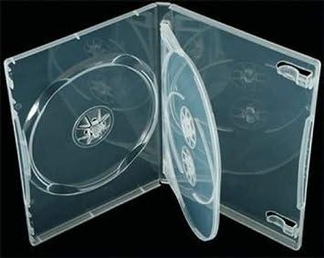 Elixir - Caja para CDS o DVDs (10 unidades con capacidad para 3 CDs o DVDs), transparente: Amazon.es: Electrónica