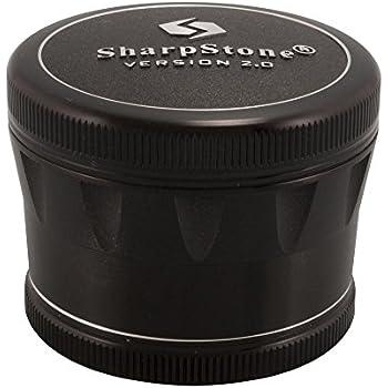 2.5 Sharpstone Version 2.0 4pc Solid Top Grinder - New, Improved & Redesigned! (Black)
