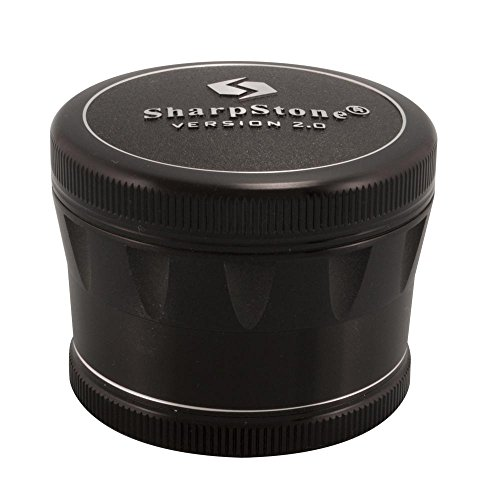 25-Sharpstone-Version-20-4pc-Solid-Top-Grinder-New-Improved-Redesigned-Black
