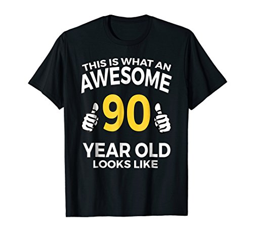 Mens 90th Birthday T Shirt Funny 90 Years Old Gifts 2XL Black