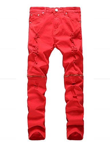 Vintage Fit Da Heater Pantaloni Skinny Battercake Denim Jeans Stretch Comodo Distrutti Rot Casual Uomo Regular Ig75w5q