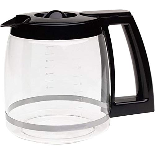 (First4Spares Replacement Coffee Maker Machine Glass Carafe Jug for Cuisinart DCC-1200PRC, Black)