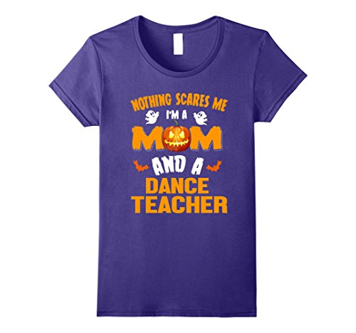 Spider Dance Costume (Womens Mom And Dance Teacher Halloween Costume Job Shirt Medium Purple)