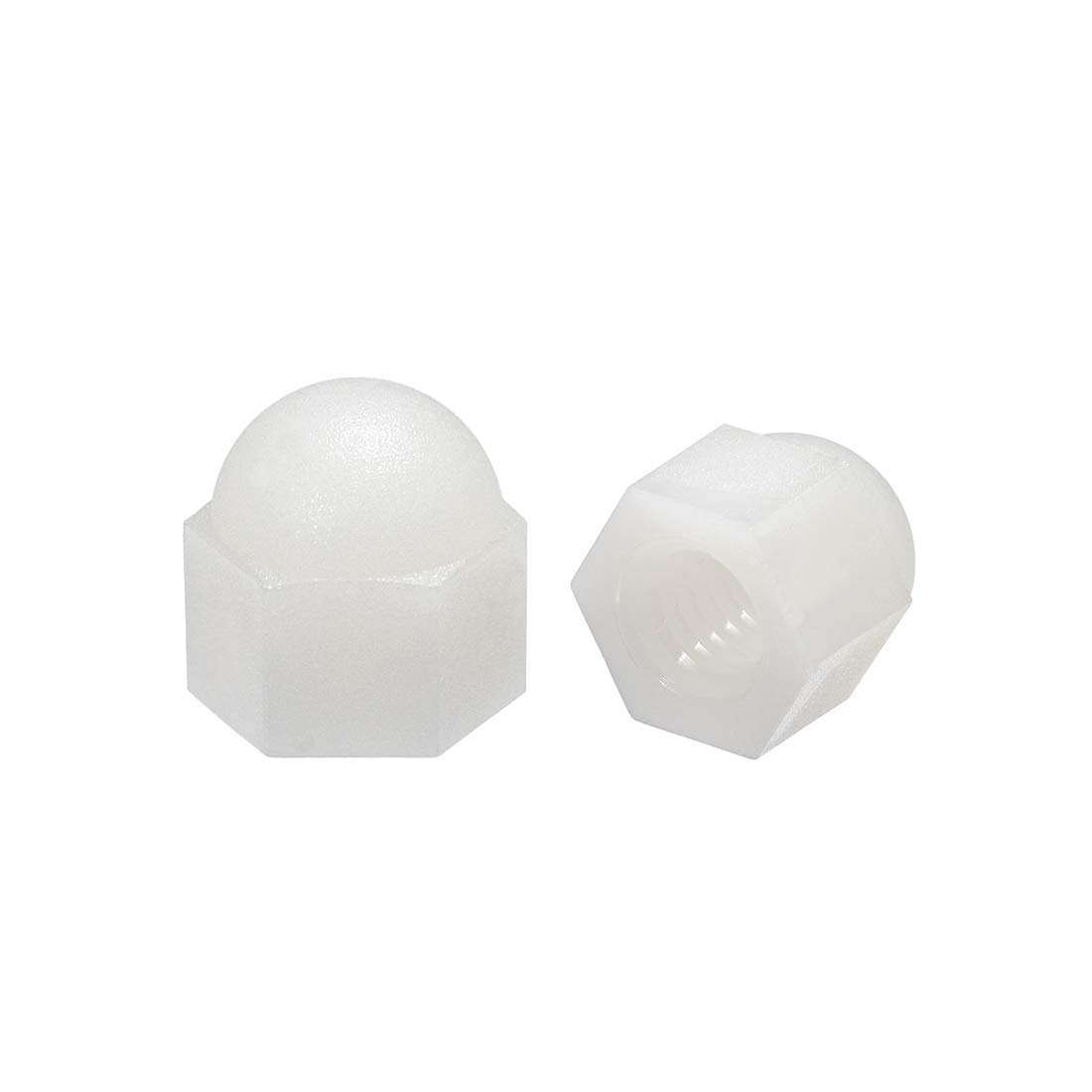 M6 Blind nut Hexagon Nuts with Dome Head for Screws Screws Bolts Nylon White 20 Pieces