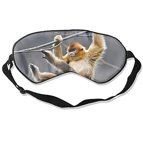Golden Snub Nosed Monkey Mask Sleeping Mask Silk Mask Shade Sleep Eyeshade/Blindfold