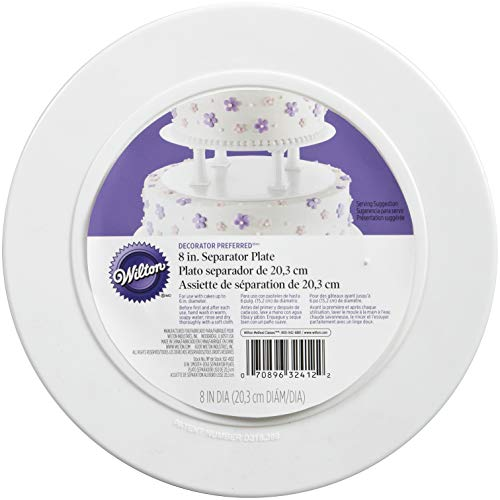 Wilton 302-4102 Smooth Edge Separator Plate for Cakes, 8-Inch