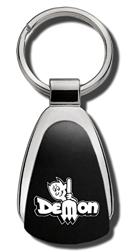 Dodge Dart Demon Black Teardrop Shaped Key Chain Keychain FOB Ring Lanyard Demon Dart