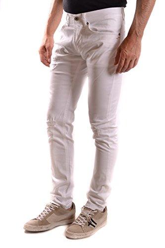 Dondup Homme MCBI100074O Blanc Coton Jeans