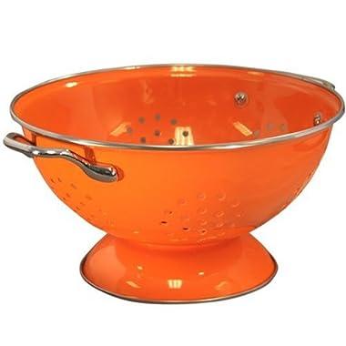 Calypso Basics 3 Quart powder coated  Colander, Orange