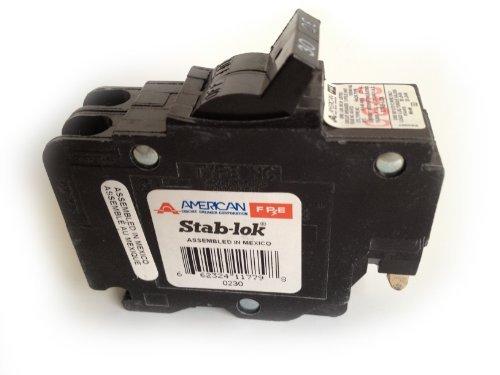 1- Federal Pacific NC230 , 2-POLE THIN 30 AMP Circuit Breakers NC0230 STAB-LOCK MARKING ON BREAKER
