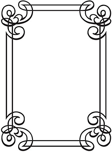 Darice 1218-31 Embossing Folder, 4.25 by 5.75-Inch, Corner Scroll Design (Templates Darice)