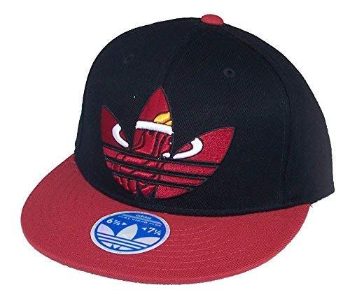 Adidas Miami HeatフレックスフィットL / XLフラットつば2トーン帽子キャップを通じて最適Fits 7 1 / 4 – 7 5 / 8   B00V5EOUG0