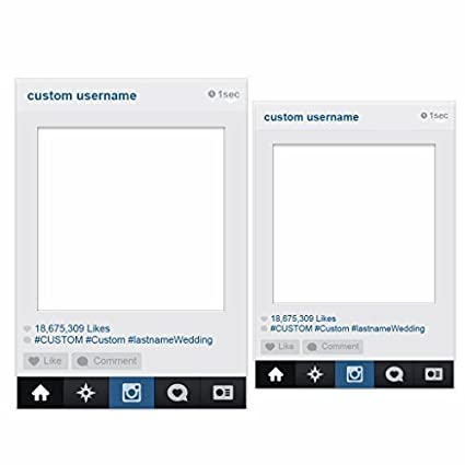 VictoryStore Photo Booth Frame - Social Media Frame Custom Wedding Photo  Booth Set of 2