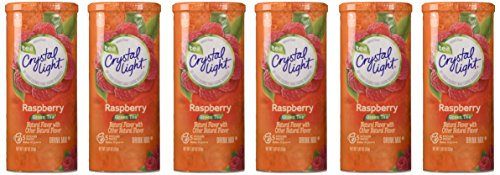 Crystal Light, Raspberry Green Tea, 1.87-Ounce Canister (Pack of 6)