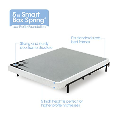 Zinus Armita 5 Inch Low Profile Smart Box Spring / Mattress Foundation / Strong Steel Structure / Easy Assembly Required, Queen (Best Way To Store Mattress And Box Springs)